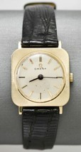 14k Yellow Gold Vintage Omega Wristwatch with Lizard Band - 17 Jewel - 8 Inch - $599.00