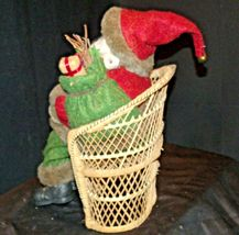 Christmas Santa Sitting on a Wicker Bench AA-191920 Collectible image 7