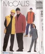 McCall's 8481 Unisex POLARGEAR Shirt Jacket Pattern Xlg-Xxl - $9.99