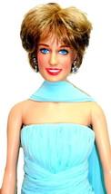 "Franklin Mint Diana Princess of Elegance 16"" Dressed Vinyl Doll Blue Chi... - $189.95"