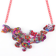Bonsny Cat Necklace Acrylic Brand 2016 New Pendant Accessories Autumn Wi... - $8.97