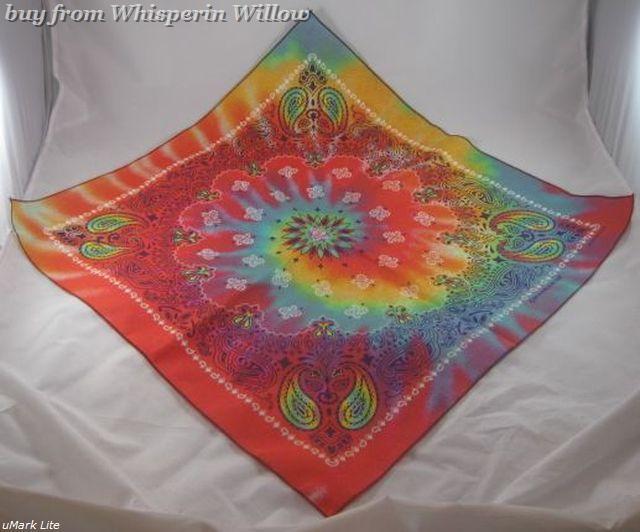 Paisley Printed Tye Dye Bandana