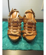 Michael Kors 7M Tall Heel Sandals With Leather Uppers - $14.99