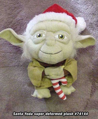 Star Wars: Super Deformed Santa Yoda 8 Inch Tall Plush NEW!