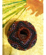 Miniature Beaded Indian Basket by Linda Shoch - $60.00