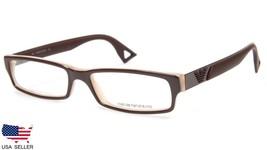 New Emporio Armani EA9516 Nxg Brown Uni Eyeglasses Frame 51-15-140 B23mm Italy - $103.93