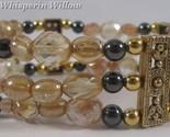 Champagne and hematite goldtone bracelet 1 thumb155 crop
