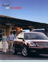 2007 Ford FIVE HUNDRED sales brochure catalog 07 US SEL - $7.00