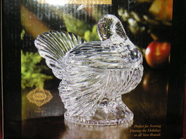 ShannoN Crystal Turkey Decorative Covered Box Perfect For Holidays Or All Year R - $31.00