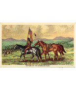 Capture of the American Flag Vintage Big Horn Post Card  - $15.00