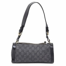 Gucci Black GG Canvas with Leather Trim Tiber E... - $186.07