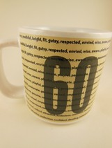 Russ Berrie Birthday Mug Sixty Over The Hill Series 12 oz Stoneware Vintage NEW - $8.31