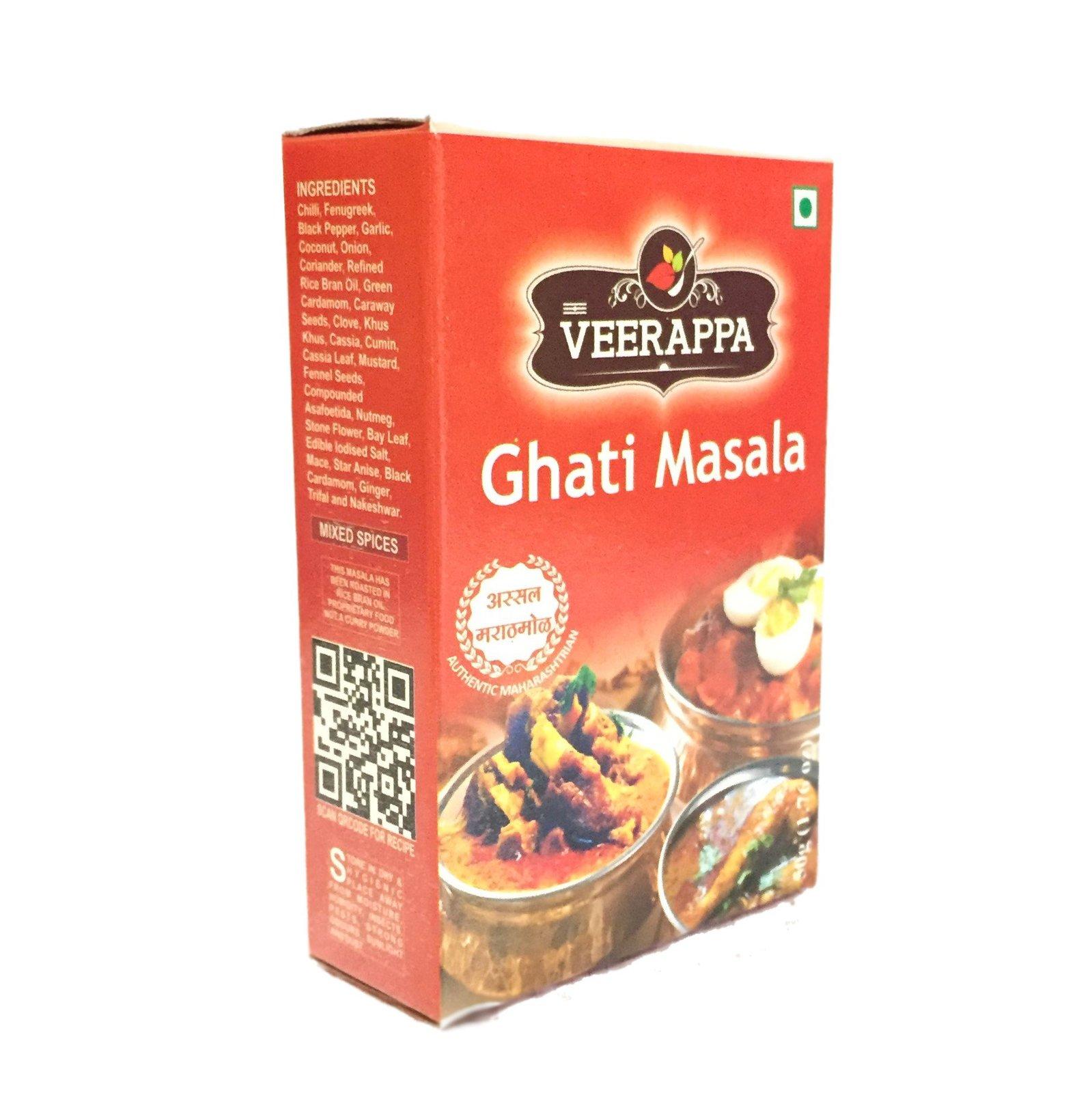 Curry Box (Pack of 4 masala assortments - Ghati, Garam, Mutton, Varhadi)