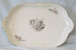"Rosenthal Sanssouci Grey Rose 13"" Oval Platter - $31.57"