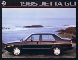 1985 Volkswagen JETTA GLI sales brochure catalog 85 US VW GT - $9.00
