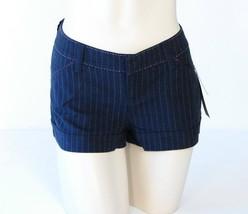 Dkny Blue Pin Stripe Low Rise Stretch Shorts Women's Junior Sizes NWT $59 - $26.24