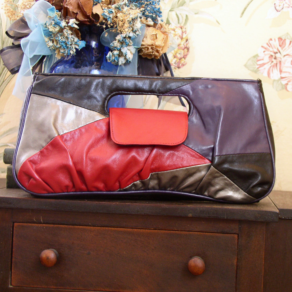 Clutch handbag patchwork
