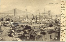 The Brooklyn Docks Vintage 1905 Post Card - $6.00