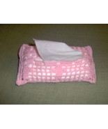 Lace crochet kleenex holders - $7.00