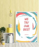 Neutral Nursery Decor, We try our best Print, Gender Neutral Print, Rain... - $1.00