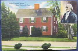 Capitol Novelty, Full Bleed, Linen Postcard, Noah Webster Ho - $6.00
