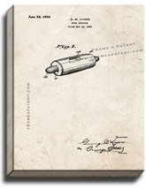 Food Article Patent Print Old Look on Canvas - $39.95+