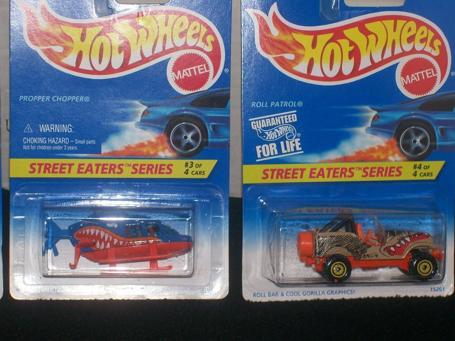 Hot Wheels Street Eaters Series Car Complete Set Of 4