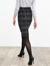 Banana Republic Plaid Pencil Skirt, Gray/black, Wool Blend, Size 12, NWT image 2