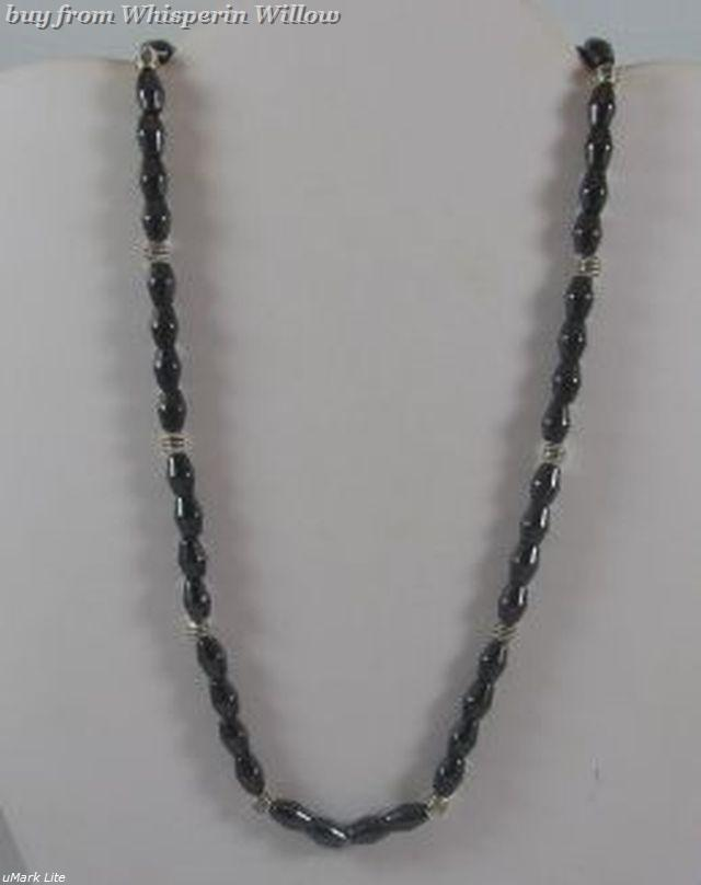 Magnetic Hematite and Silver Necklace