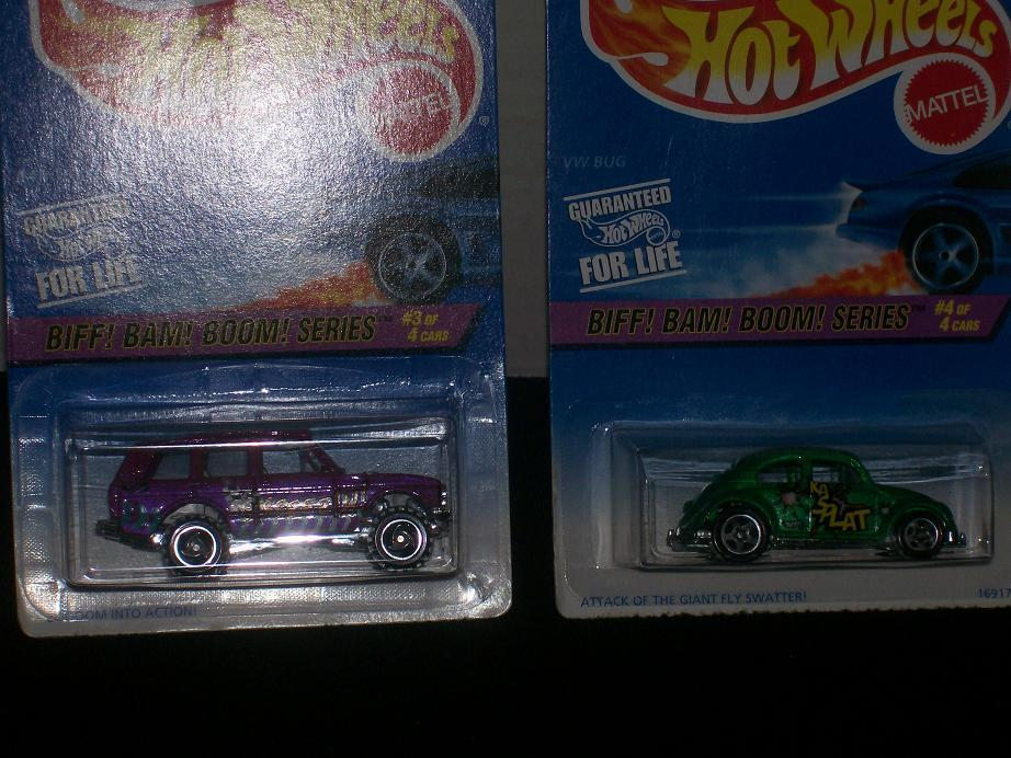 Hot Wheels 1997 Biff Bam Boom  Complete 4 Car Set