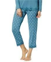 Alfani Women's Aqua Lace-trim Printed Pajama Pants Pin Dot NWT - $15.83