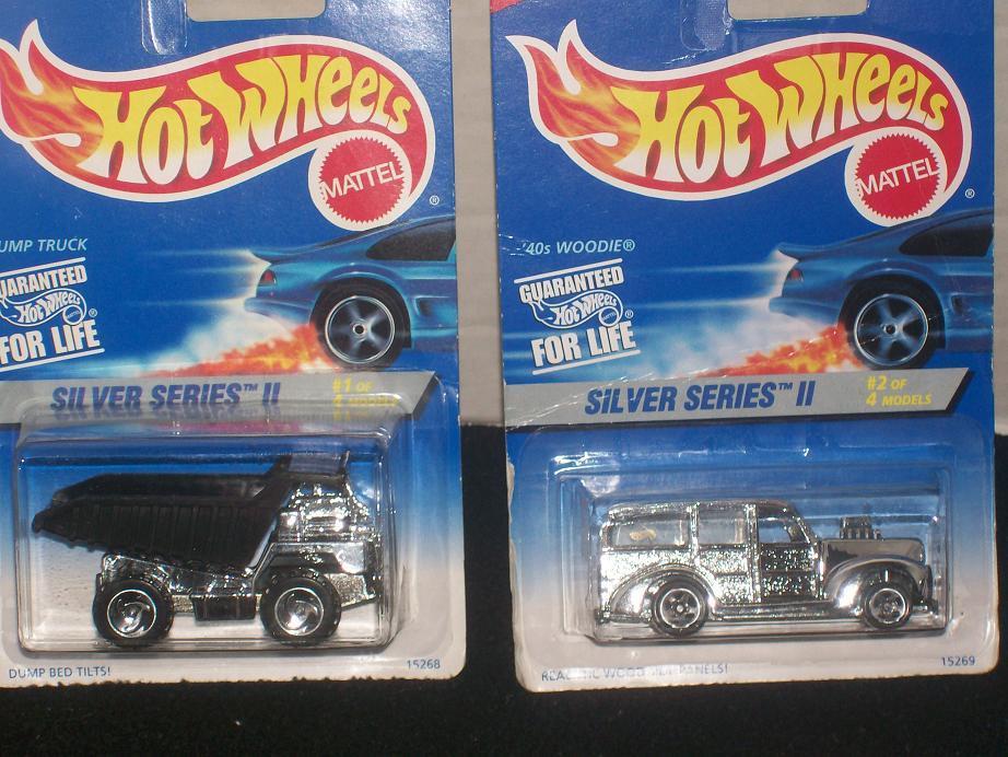"""""""HOT WHEELS"""" """"SILVER SERIES II""""  1995 SET OF 4 DIE-CAST CARS"""