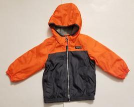 OshKosh B'gosh Baby Boy's Long Sleeve Zip Up Hooded Jacket Size 12 Months - $9.99
