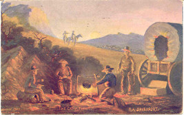 The Camp Fire artist R Davenport 1909 Post Card - $6.00