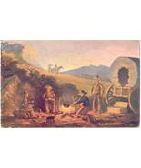 The Camp Fire artist R Davenport 1909 Post Card - $6.00