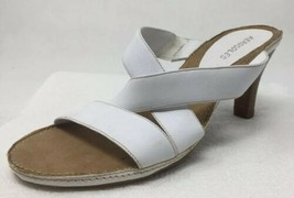 Aerosoles CHARLOTTE Open Toe Criss Cross Heel Slip On Slide Sandal White... - $17.64