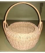 Outstanding Large Vintage Wicker Basket, Fancy ... - $61.95