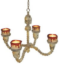Skeleton Chandelier Prop Animated Lighted Hanging Haunted House Scary OC... - $44.99