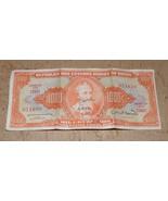 BRAZIL NOTE 1000 CRUZEIROS (1949) ESTAMPA 2A SERIAL 156K  - $68.99