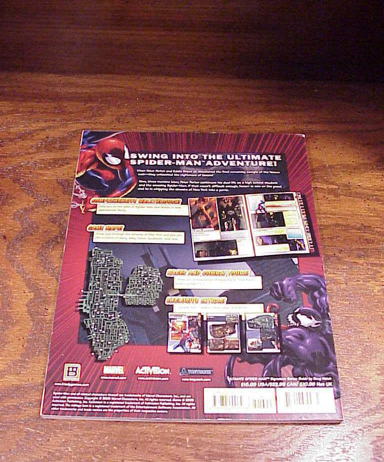 Ultimate Spider-Man Game Strategy Guide Book, Xbox, PS1