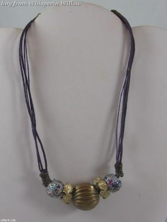 Polmer clay necklace 1