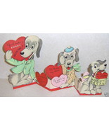 Old Vintage Fold out Puppy Dog Valentine Day Card Cute! - $5.39