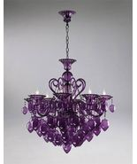 CYAN DESIGN 02996, PURPLE GLASS CHANDELIER, 8 L... - $2,187.50