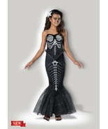 InCharacter Skeleton Mermaid Bones Goth Childrens Girls Halloween Costum... - £23.96 GBP