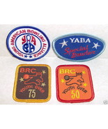 Lot 4 Bowling Patches Brc Youth Over 50 75 Yaba Bowler  - $5.39
