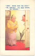 John Me Darling artist Douglas Tempest Vintage Post Card - $6.00