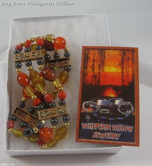 Magnetic Hematite Sunset Fashion Bracelet