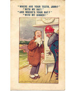 Where Are Your Teeth artist Douglas Tempest 1928 Post Card - $6.00