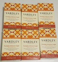 Yardley London Pumpkin & brown sugar Soap Lot of 6 Bars limited edition - $19.99