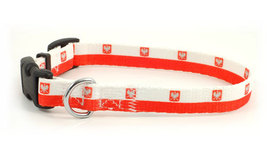 Small Polish Flag Dog Collar - $9.00